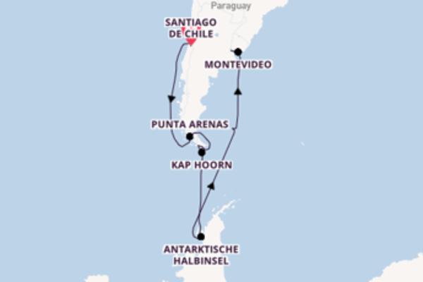 Kreuzfahrt mit Diamond Princess von Santiago de Chile nach Buenos Aires