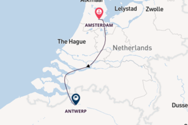 Journey with CroisiEurope from Amsterdam