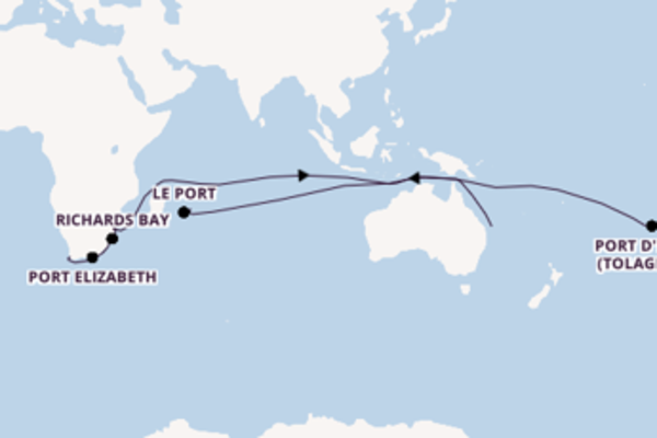Kapstadt, Südafrika und Le Port, Réunion erkunden