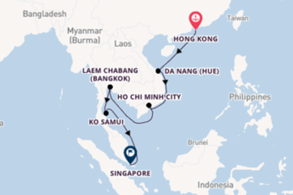 12 day cruise with the Norwegian Spirit  to Singapore