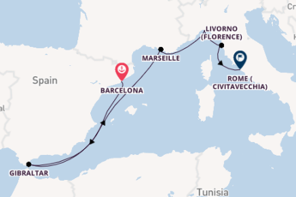 Sailing with the Regal Princess to Rome (Civitavecchia) from Barcelona