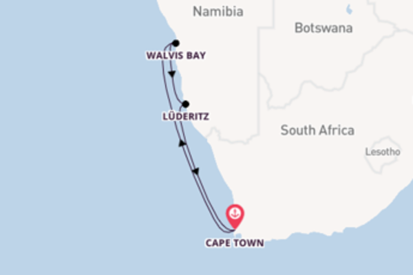 Iconic cruise from Cape Town with MSC Cruises