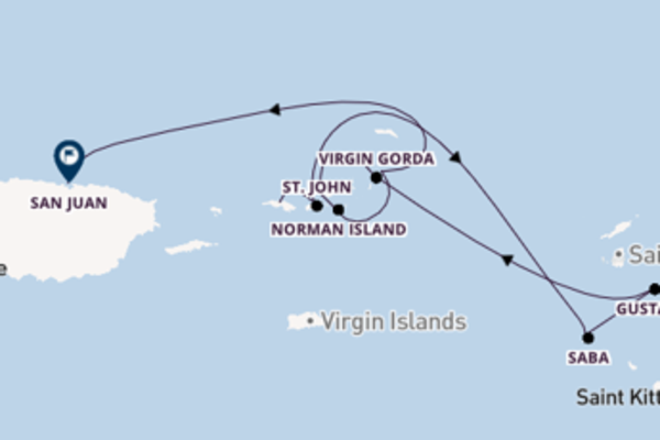Eindrucksvolle Kreuzfahrt über Saba nach San Juan