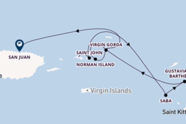 Croisière de 8 jours vers San Juan avec SeaDream Yacht Club