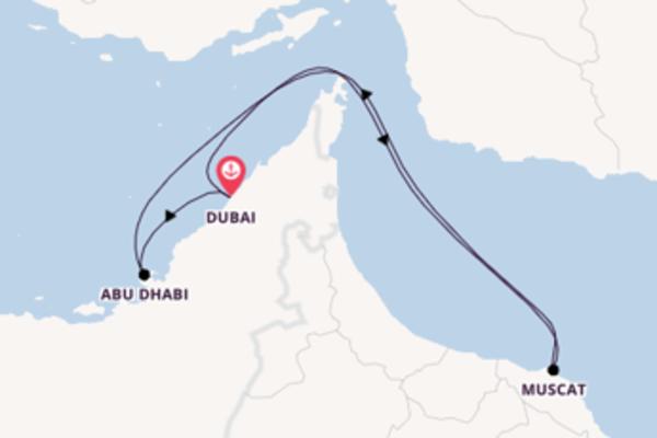 Von Dubai über Muscat in 8 Tagen