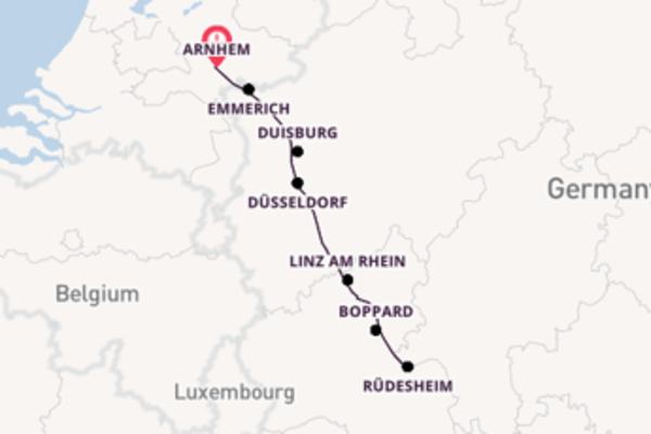 Over de Rijn naar Rüdesheim