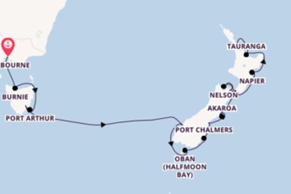 In 20 dagen naar Auckland, Nieuw-Zeeland