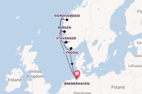 7-daagse cruise naar Nordfjordeid