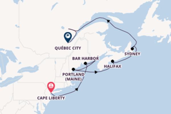 Da Cape Liberty a Québec passando per Saint John in 11 giorni