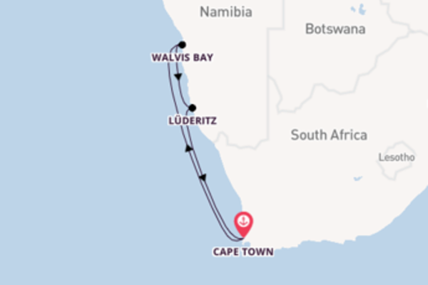 Cruising from Cape Town via Walvis Bay