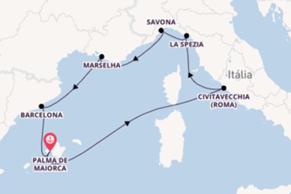 Navegando por 8 dias a bordo do Costa Smeralda