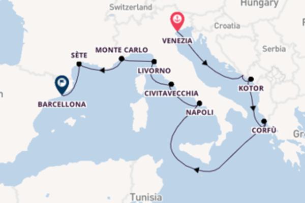 13 giorni di crociera da Venezia