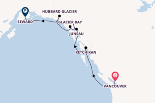 Sail with Norwegian Cruise Line from Vancouver to Seward