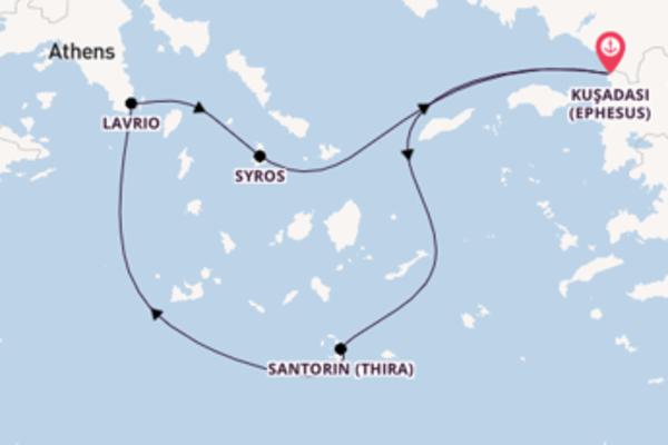 Von Kuşadası (Ephesus) über Santorin (Thira) in 4 Tagen
