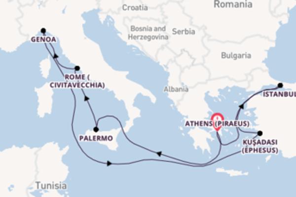 Voyage with MSC Cruises from Athens (Piraeus)