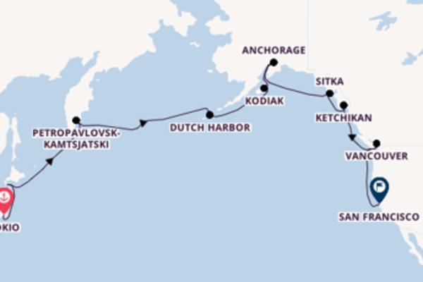 21-daagse cruise naar Anchorage