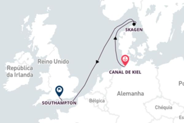 Navegando a bordo do Queen Victoria por 4 dias