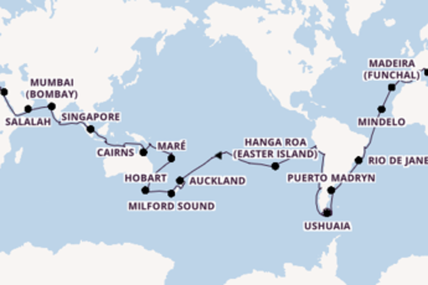 Cruise from Genoa with the MSC Poesia
