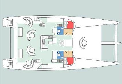 Maxi catamaran Poncin Yacht 82 Pont Superieur