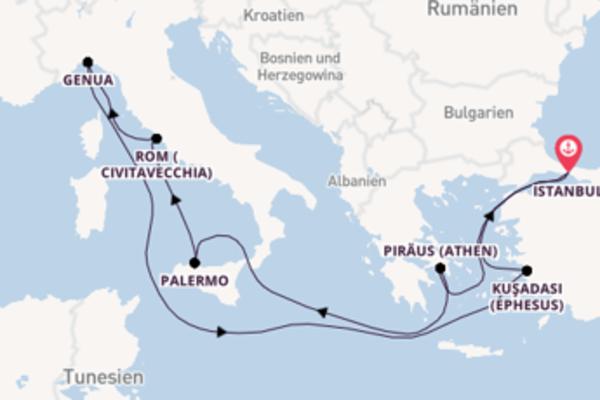 12-tägige Kreuzfahrt ab Istanbul