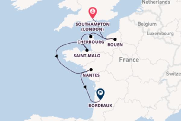 Wonderful Southampton to enticing Bordeaux