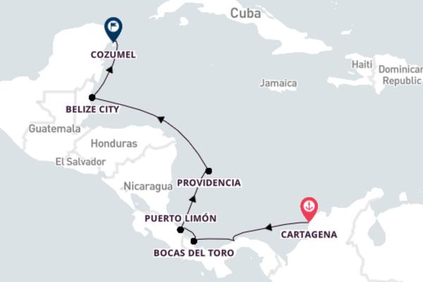10-Night Luxury Cruise from Cartagena to Cozumel