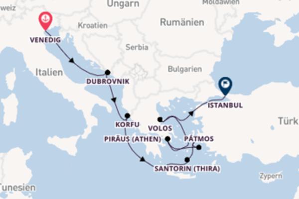 9-tägige Kreuzfahrt von Venedig nach Istanbul