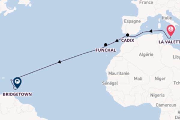 Croisière de 16 jours vers Bridgetown avec P&O Cruises