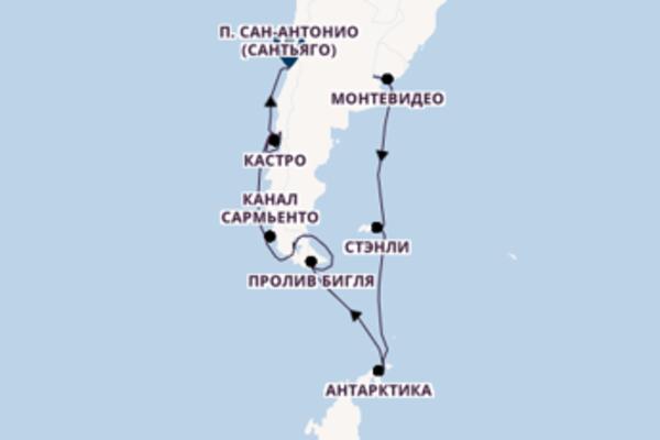 Буэнос-Айрес - Сантьяго на Seabourn Quest