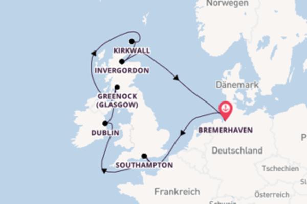 In 11 Tagen nach Bremerhaven über Kirkwall