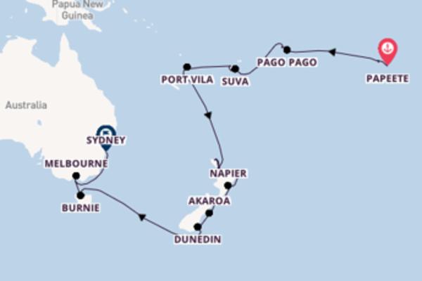Lasciati conquistare da Napier arrivando a Sydney