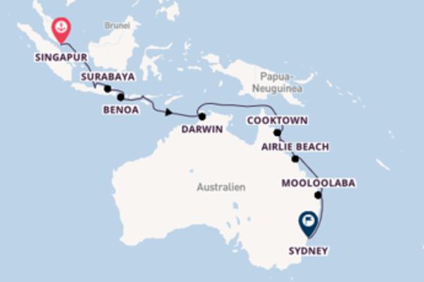 Genießen Sie Singapur, Cairns und Sydney