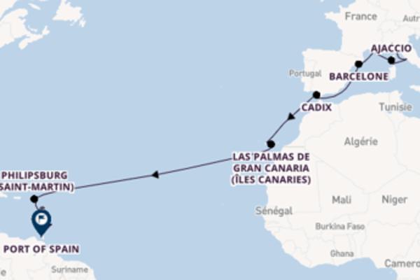 Croisière de 29 jours depuis Gênes avec MSC Croisières