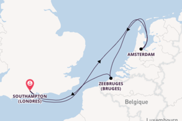 6 jours de navigation à bord du bateau Ventura  depuis Southampton (Londres)