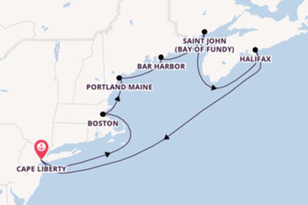 Ga mee op de Adventure of the Seas® naar Cape Liberty