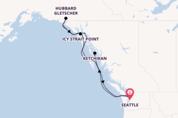Von Seattle über Ketchikan in 8 Tagen