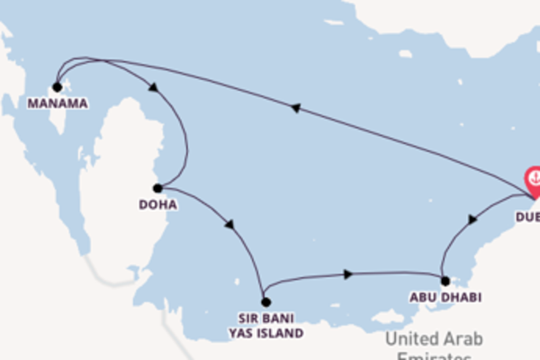 Sail with P&O Cruises from Dubai