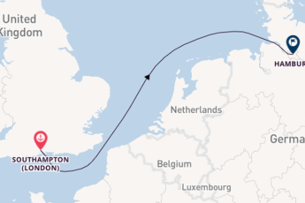 Journey with Cunard from Southampton