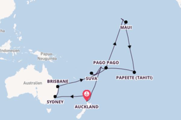 36-tägige Kreuzfahrt bis Auckland