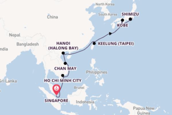 Expedition from Singapore with the Celebrity Solstice