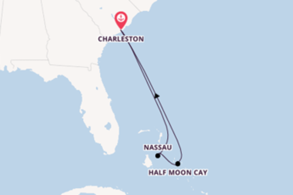 Wunderbare Kreuzfahrt über Half Moon Cay ab Charleston