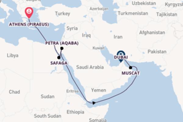 Cruising from Athens (Piraeus) to Dubai
