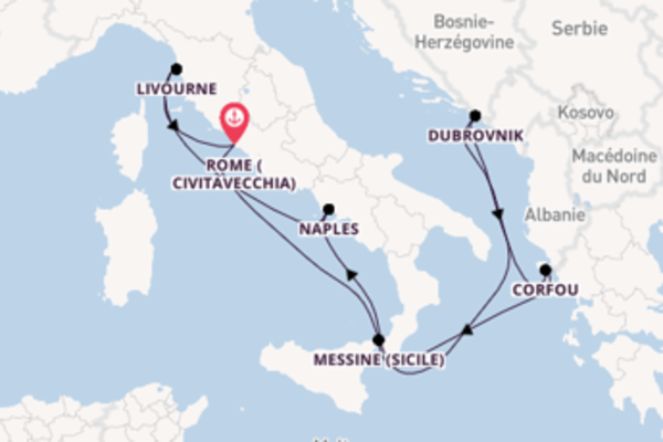 8 jours pour découvrir Naples à bord du beateau Norwegian Escape