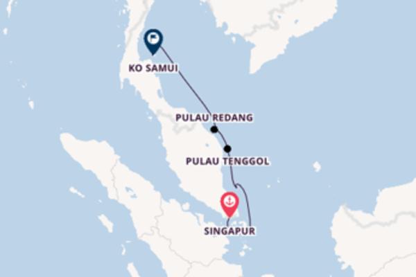 Von Singapur nach Ko Samui