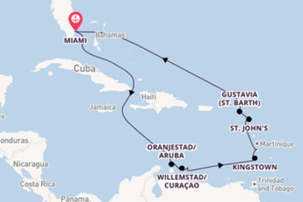 Vibrant voyage from Miami with Oceania Cruises