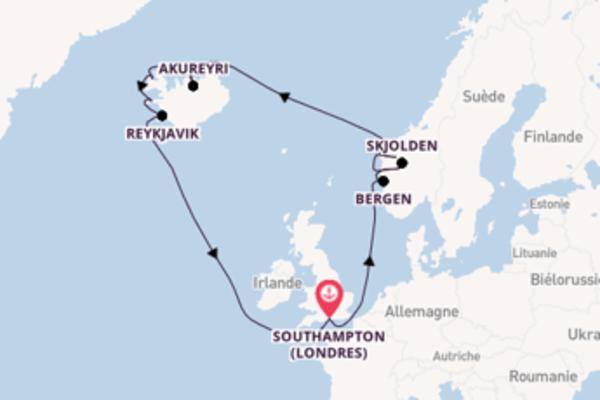 Sublime virée de 15 jours depuis Southampton (Londres)