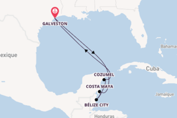 Bélize City, depuis Galveston à bord du bateau Carnival Dream