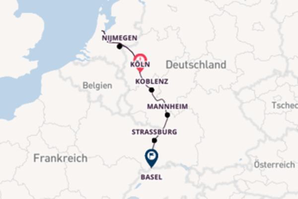 8 Tage unterwegs mit der Rhein Melodie