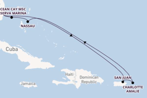 Spumeggiante viaggio da Miami verso Charlotte Amalie