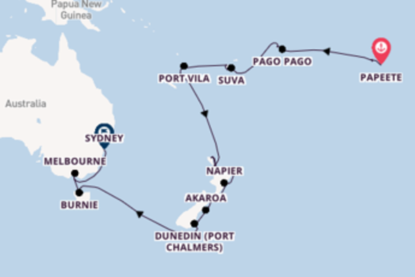 Sailing from Papeete with the Seven Seas Mariner